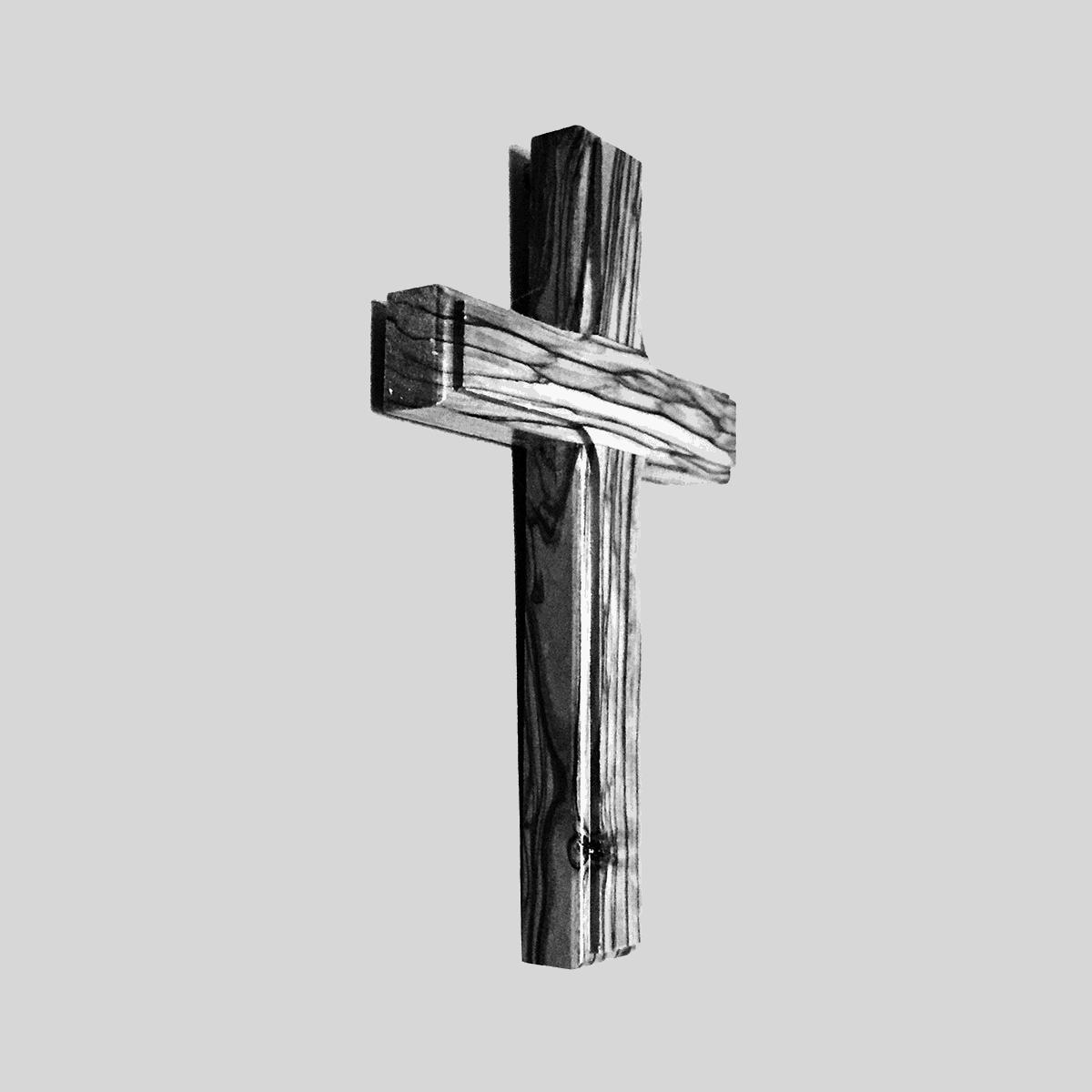 Kreuz auf transparentem Hintergrund